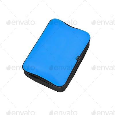 blue pencil-case isolated