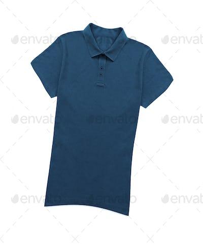 blue shirt isolated