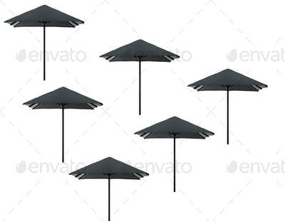beach umbrellas isolated