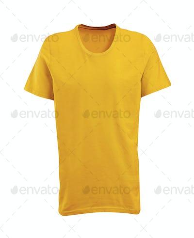 Yellow shirt isolated