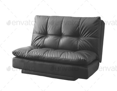 black modern sofa isolated