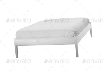 comfortable bed isolated