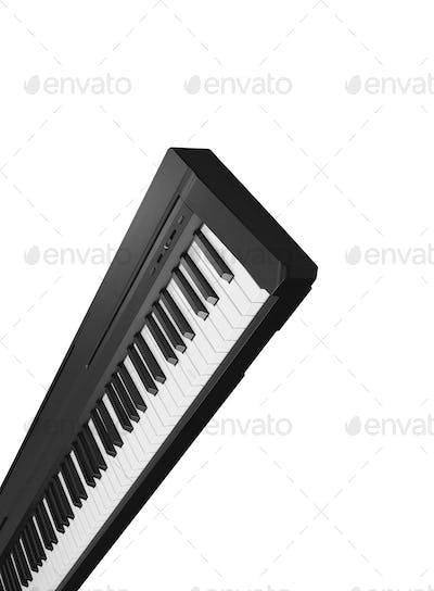 Dark Gray Synthesizer isolated