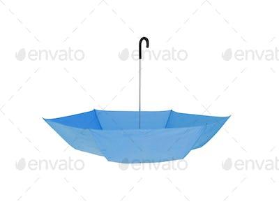 Bright blue Umbrella isolated