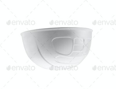 Plastic safety helmet isolated