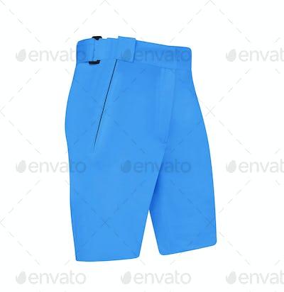 bright blue shorts isolated