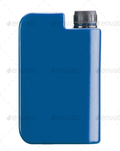 Blue plastic jerry can isolated