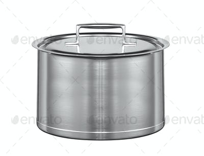 stainless pan isolated