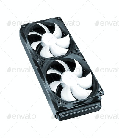 Two cooling fans isolated