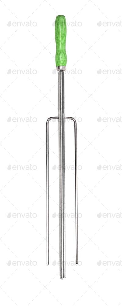 metal skewers isolated