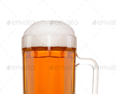 a glass o beer isolated