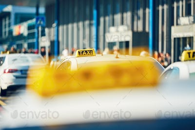 Taxi cars on the street