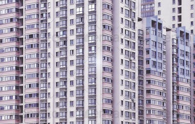 Vintage stylized picture of apartment buildings.