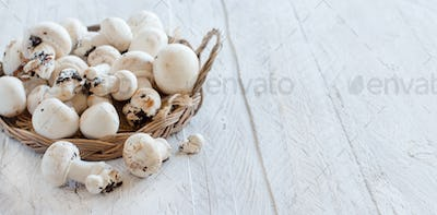 Champignon Mushrooms  on a table