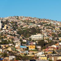 View over the colorful houses of Valparaiso