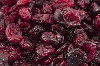 Dried Cranberries as a Background