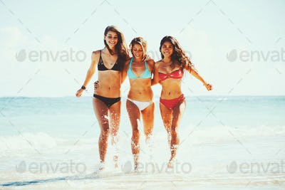 Beautiful Girls Fun at the Beach