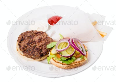 Delicious american grilled beef burger.
