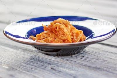 Tasty pasta frutti di maré