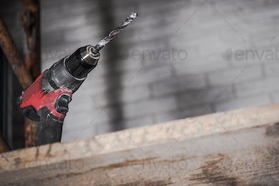 Drill Driver Tool on Scaffolding