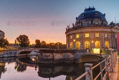 The Bode-Museum in Berlin at sunrise