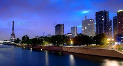 Parisian cityscape in morning