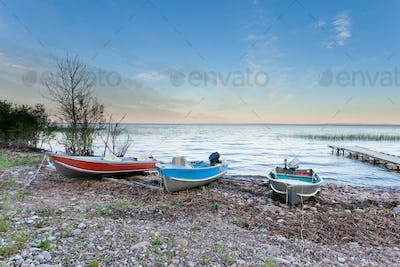 Peaceful landscape of Lesser Slave Lake AB Canada