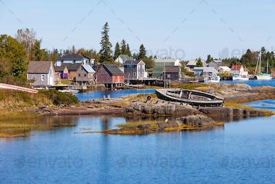 Fishing village of Blue Rock Nova Scotia NS Canada
