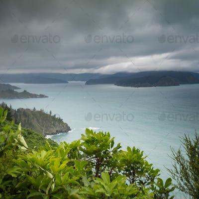 Cloudy Bay of Marlborough Sounds New Zealand