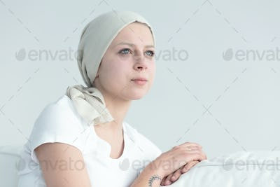 Woman with cancer feeling positive