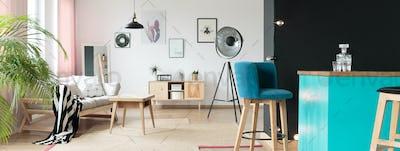 Teal bar stools