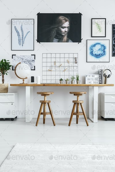 Workplace for two designers