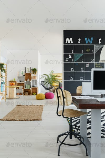 Office with kitchen