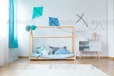 Boys bedroom with DIY kites