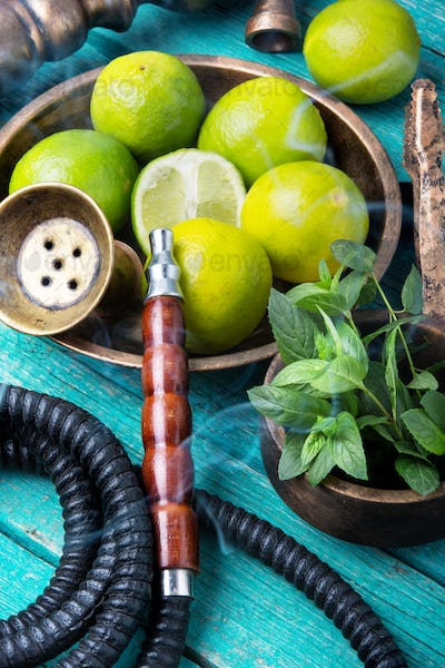 oriental nargile with lime