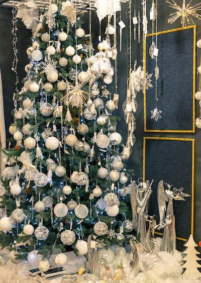 Merry christmas, beautiful xmas tree