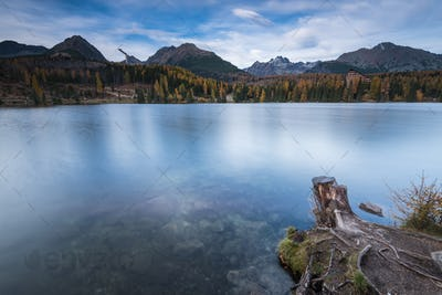 Calm lake in high mountains Tatra range