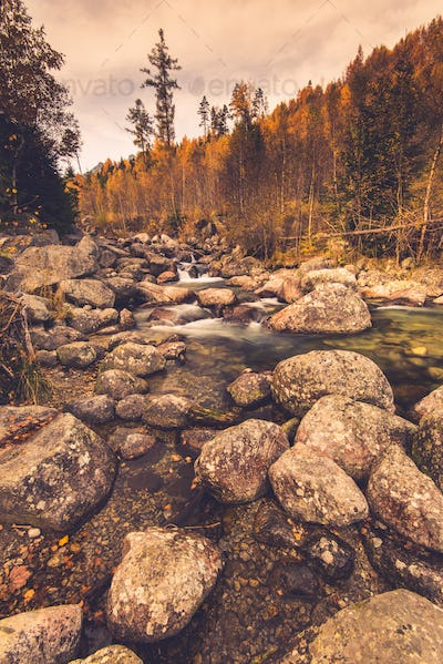 Mountain river in High Tatra mountains,Slovakia