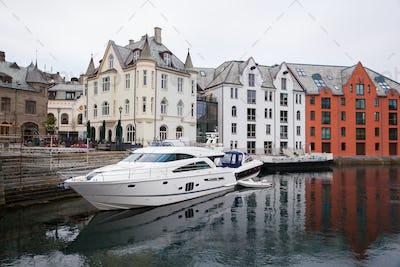 houses of Alesund town Norway