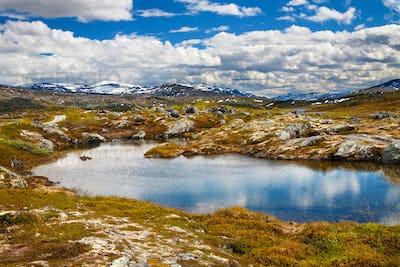 mountain view on Aursjovegen road, Norway