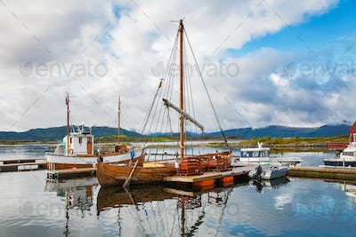 traditional boats at Haholmen island, Norway