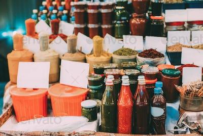 Tbilisi, Georgia. Ajika, Condiment, Fragrant Spices, Aromatic He