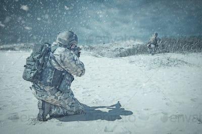 Troopers winter storm