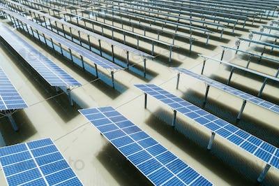 solar power plant on pond