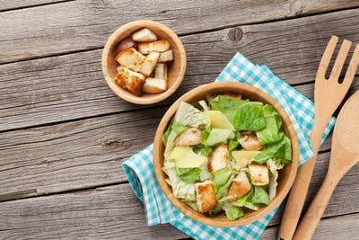 Fresh healthy caesar salad