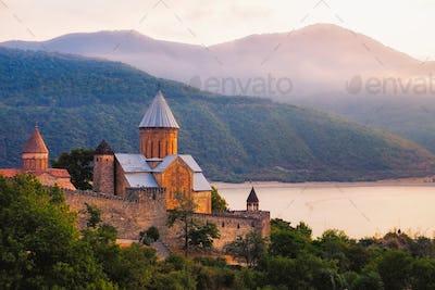 Scenic view of Ananuri fortress in Georgia
