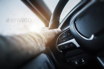 Driving Car Steering Wheel