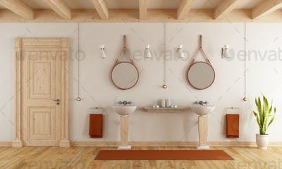 Classic bathroom with washbasins