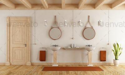 Classic bathroom with washbasins