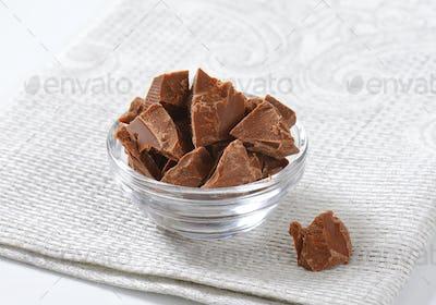 pieces of milk chocolate